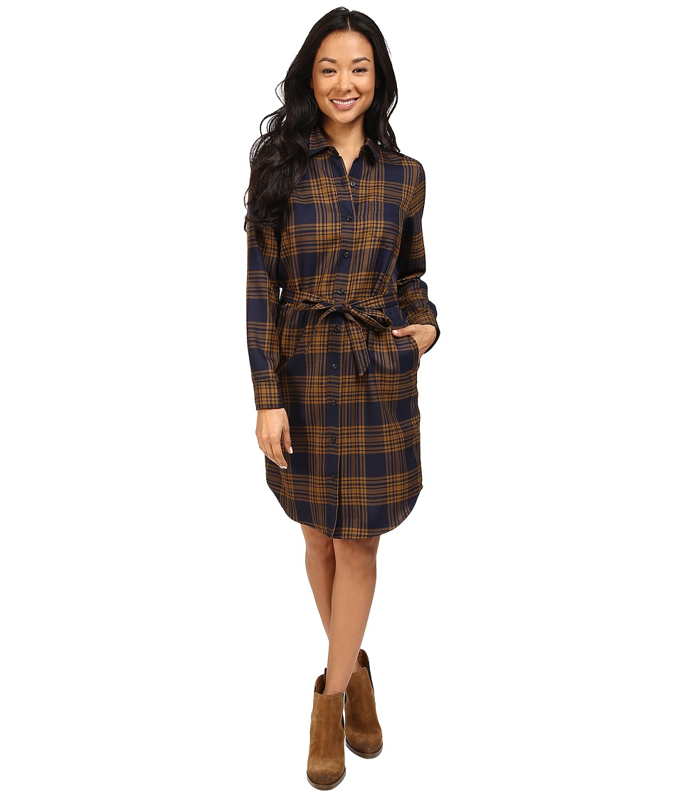 Pendleton - Cecily Shirtdress (Midnight Navy/Gold Menzies Worsted Tartan) Women's Dress