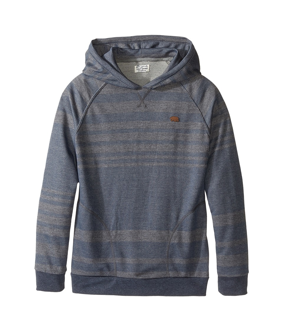 Lucky Brand Kids - Striped Ombre Hoodie (Big Kids) (Ombre Blue) Boy's Sweatshirt