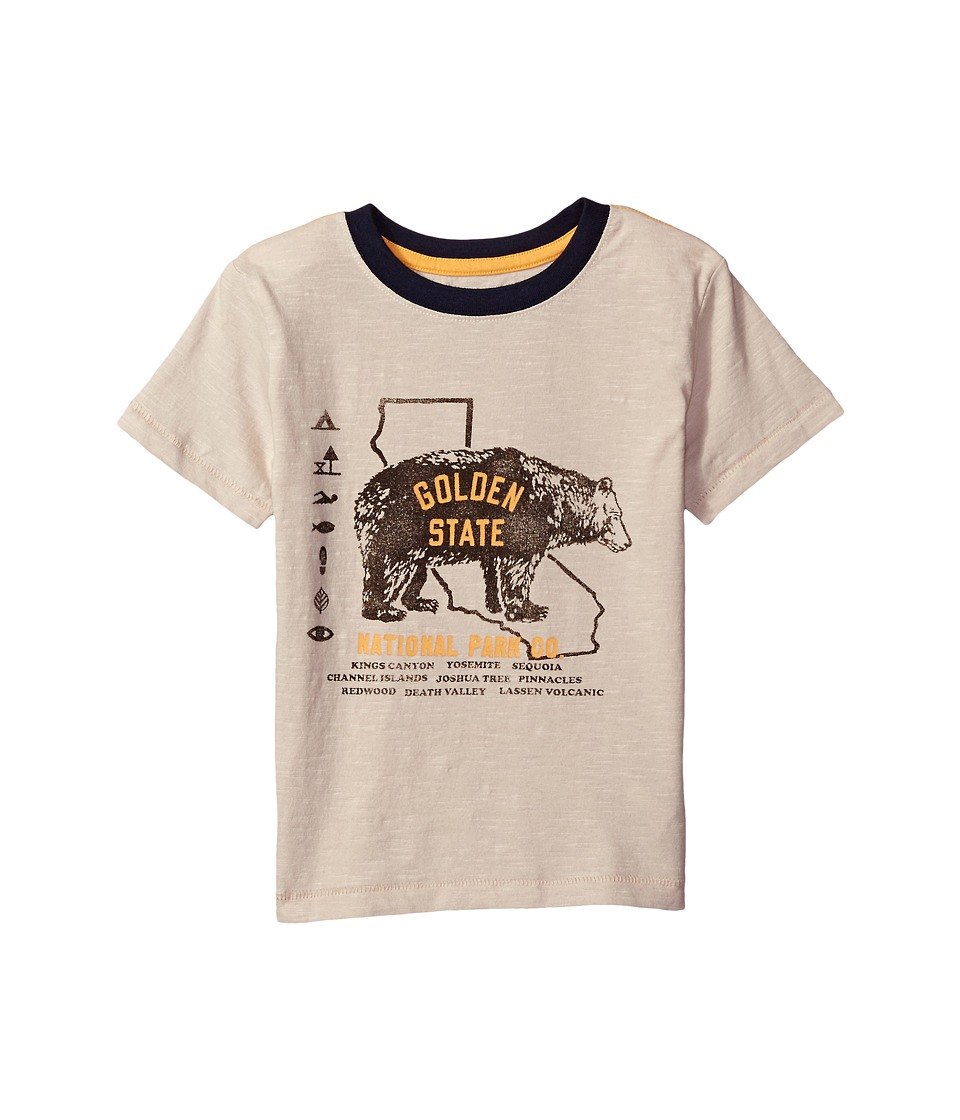 Lucky Brand Kids Short Sleeve Tee with Bear Print (Big Kids) (Pelican) Boy