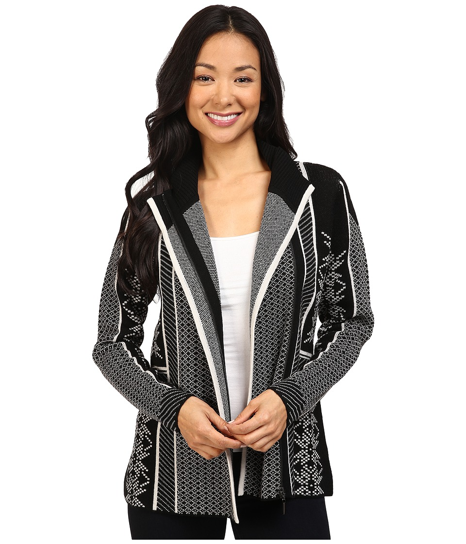Pendleton - Apres Ski Cardigan (Black/Vanilla Heather) Women's Sweater