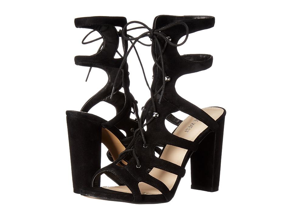 Nine West - Kanti (Black Kid Suede) Women's Sandals