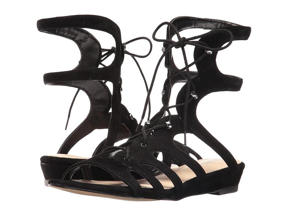 Nine West - Zavila (Black Kid Suede) Women's Sandals