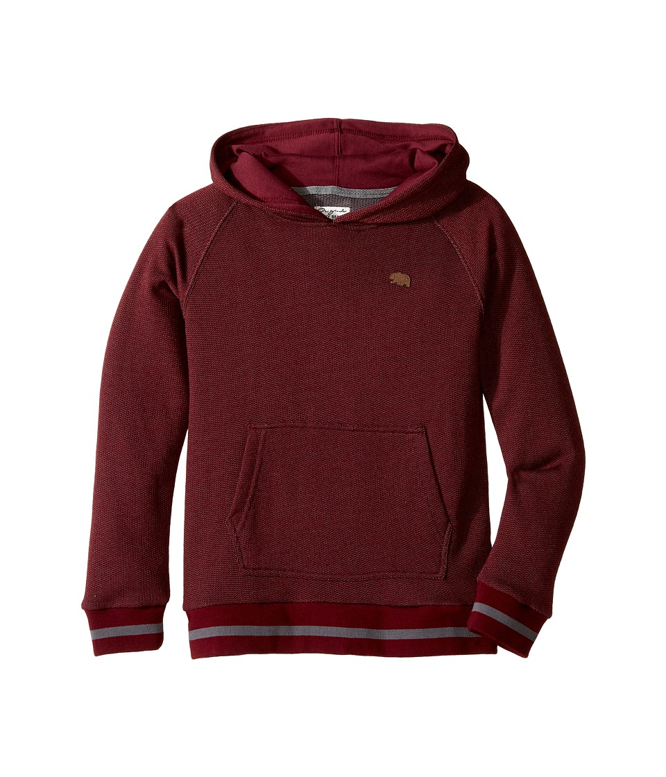 Lucky Brand Kids - Two-Tone French Terry Hoodie (Little Kids/Big Kids) (Zinfandel) Boy's Sweatshirt
