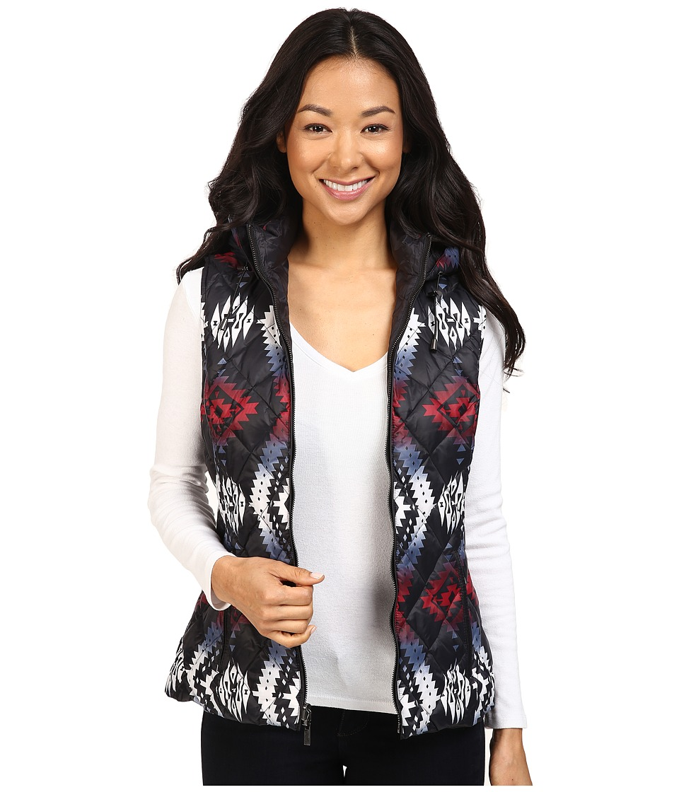 Pendleton - Snow Drift Vest (Black Ice Jacquard Print) Women's Vest
