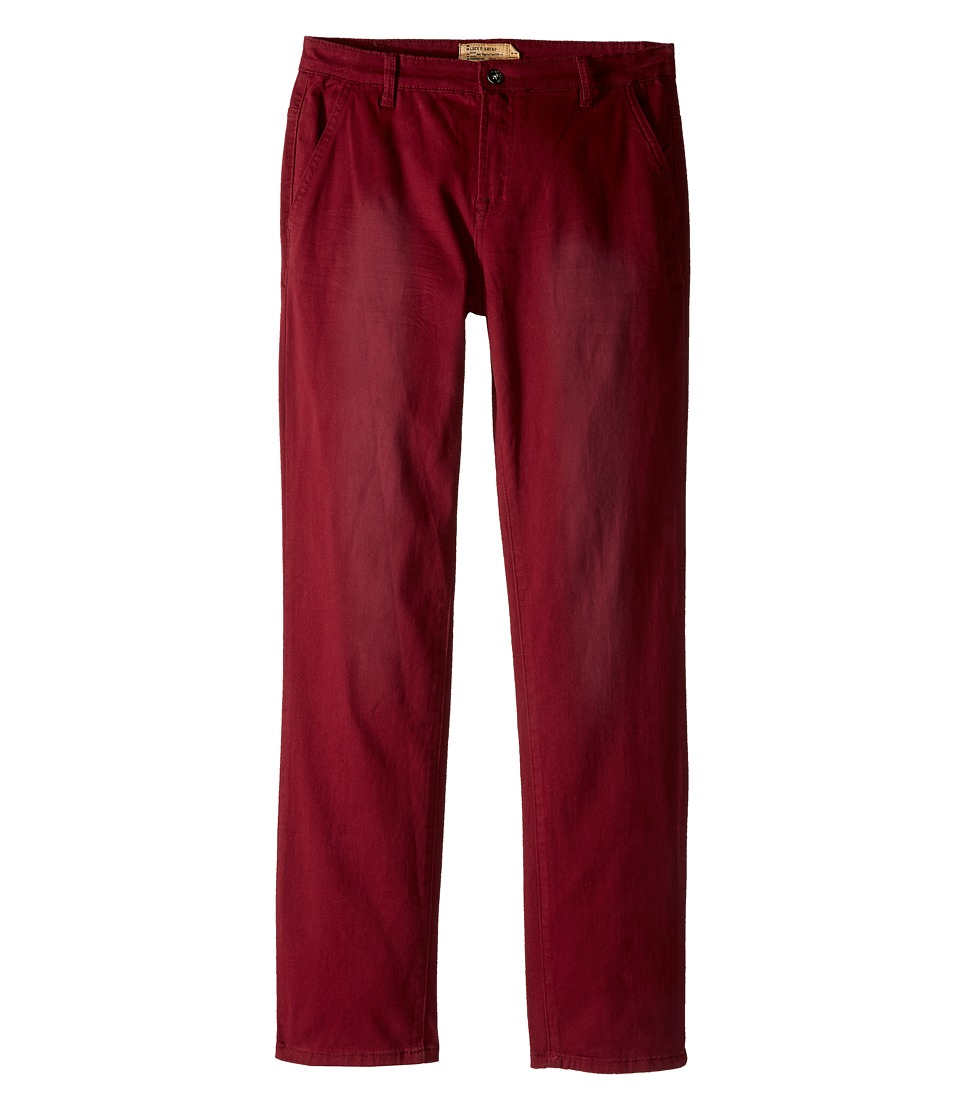 Lucky Brand Kids - Slim Fit Twill Pants w/ Slash Front Pockets (Big Kids) (Zinfandel) Boy's Casual Pants