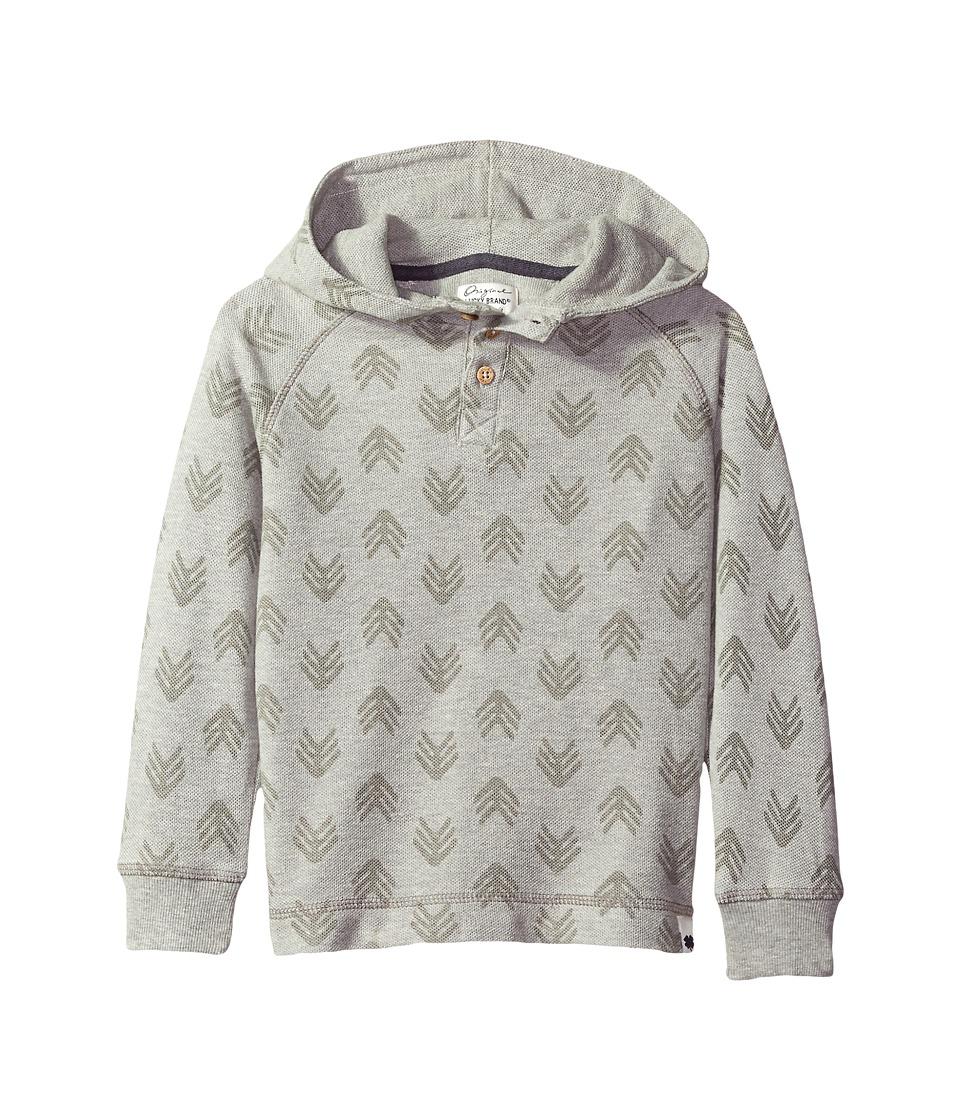Lucky Brand Kids - Hoodie with Arrowhead Design (Big Kids) (Light Heather) Boy's Sweatshirt