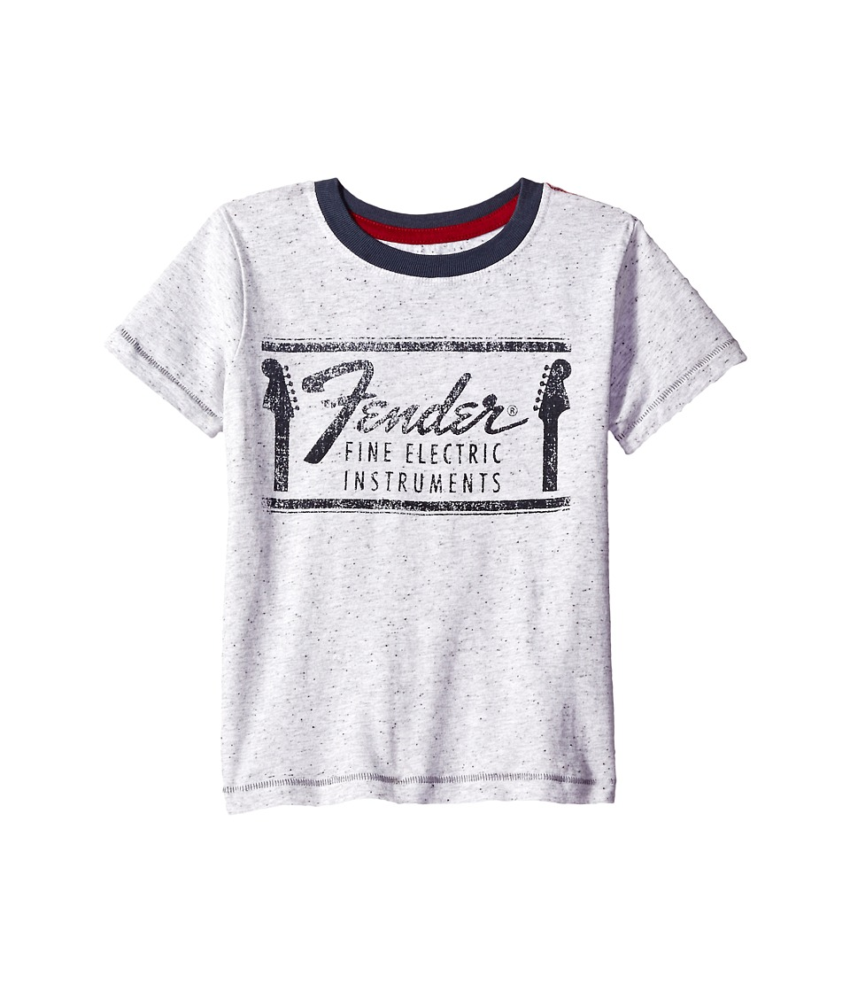 Lucky Brand Kids Fender Flecked Tee with Ringer Collar (Big Kids) (Light Gray) Boy
