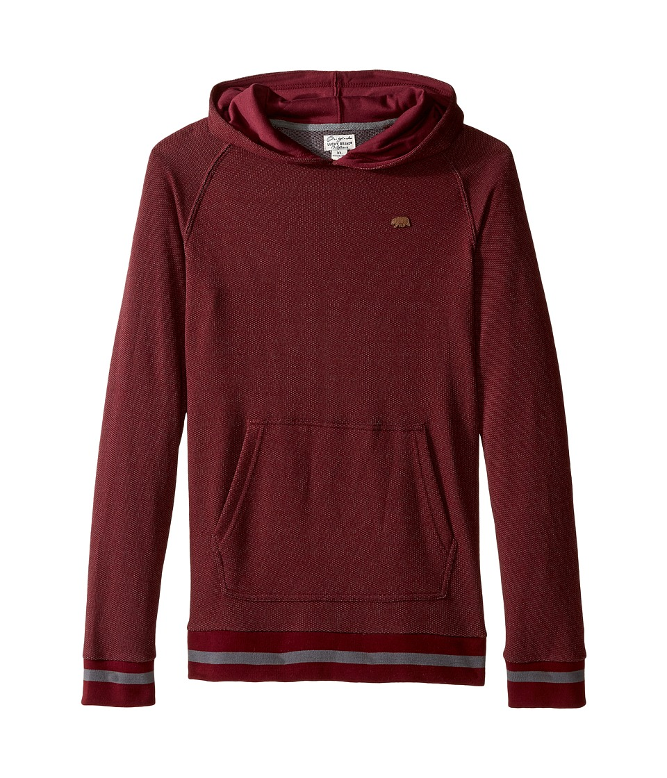 Lucky Brand Kids - Two-Tone French Terry Hoodie (Big Kids) (Zinfandel) Boy's Sweatshirt