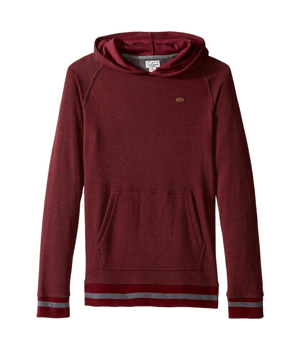 Lucky Brand Kids - Two-Tone French Terry Hoodie (Big Kids) (Zinfandel) Boy's Sweatshirt