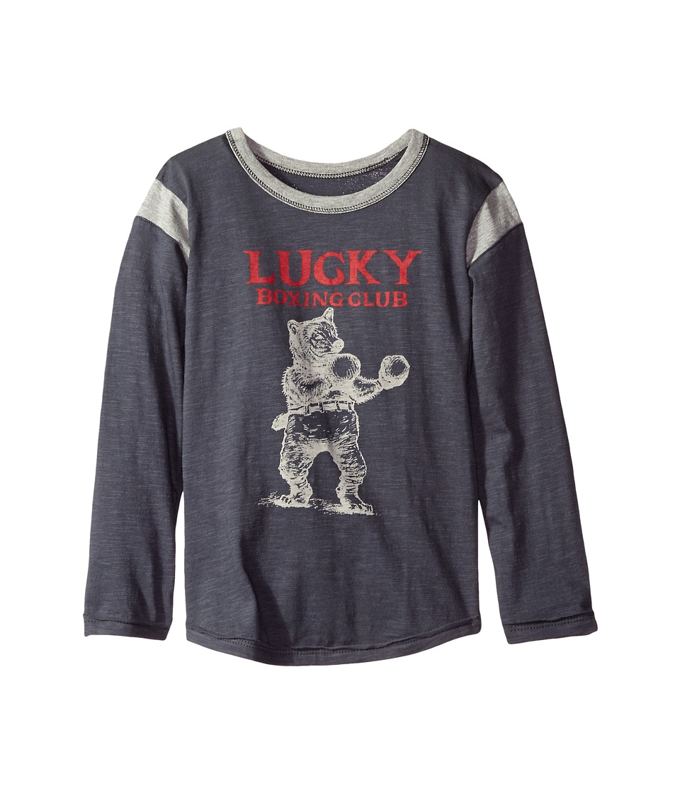 Lucky Brand Kids - Boxing Club Long Sleeve Tee (Big Kids) (Ombre Blue) Boy's T Shirt