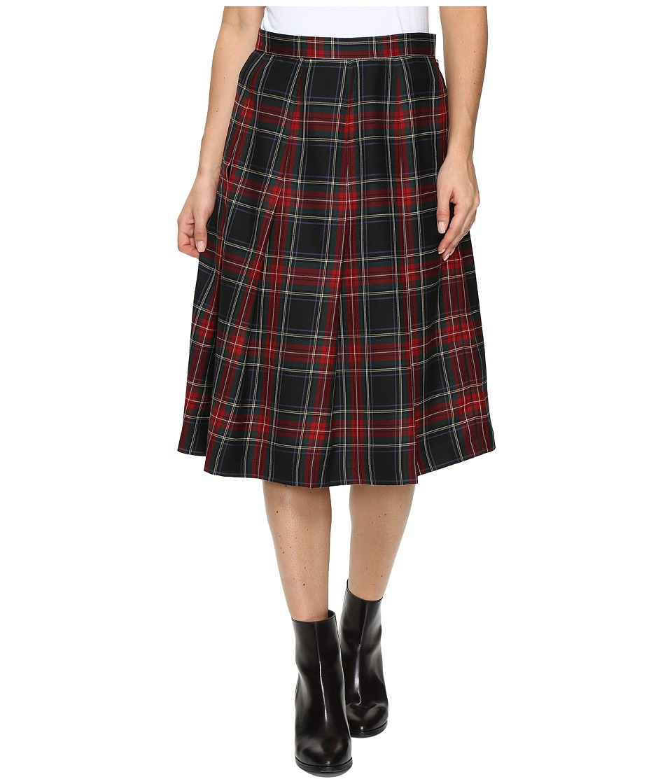 Pendleton - Pauline Pleat Skirt (Black Stewart Worsted Tartan) Women's Skirt