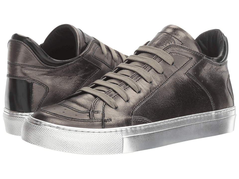MM6 Maison Margiela - Laminated Low Sneaker (Gunmetal/Black Laminated Leather) Women's Shoes