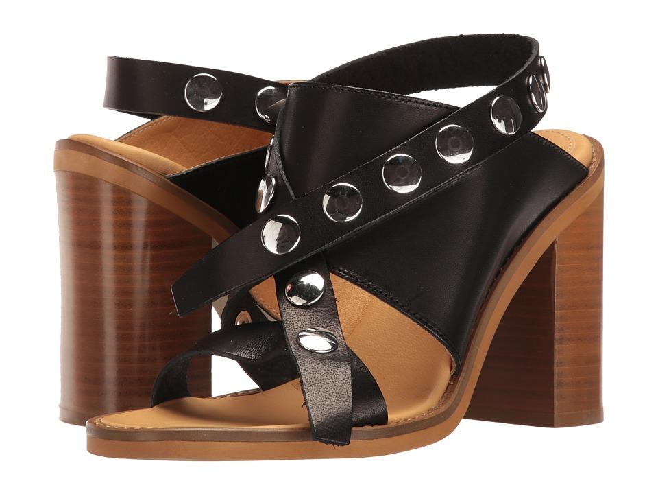 MM6 Maison Margiela - Adjustable Studded Strap Sandal (Black Natural Leather) Women's Sandals