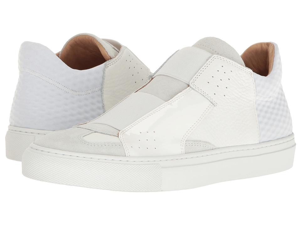 MM6 Maison Margiela - Elastic Slip-On Sneaker (White Mixed Materials) Women's Shoes