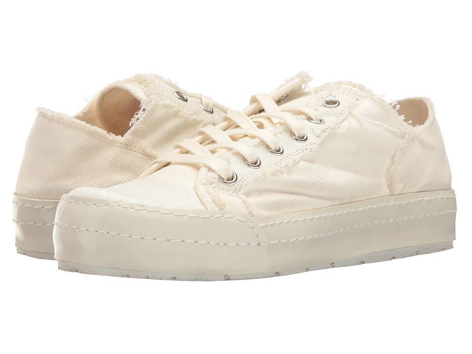 MM6 Maison Margiela - Canvas Low Sneaker (White Canvas) Women's Shoes