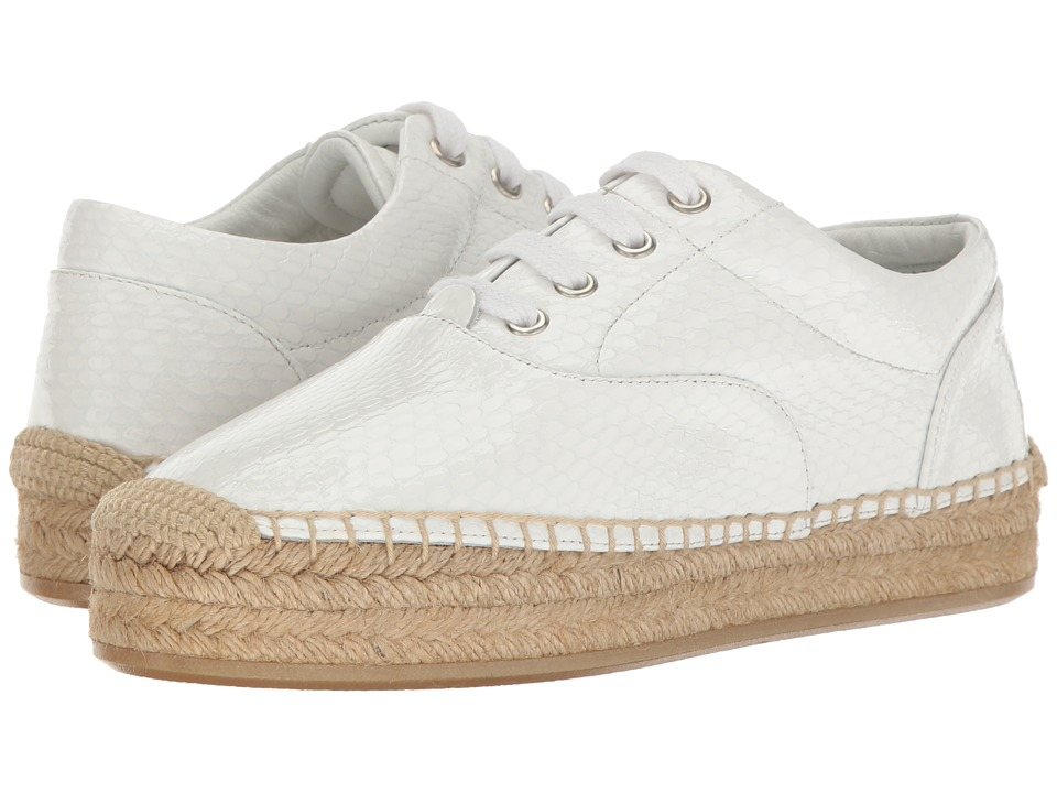 MM6 Maison Margiela - Platform Espadrille (White Patent Leather) Women's Shoes