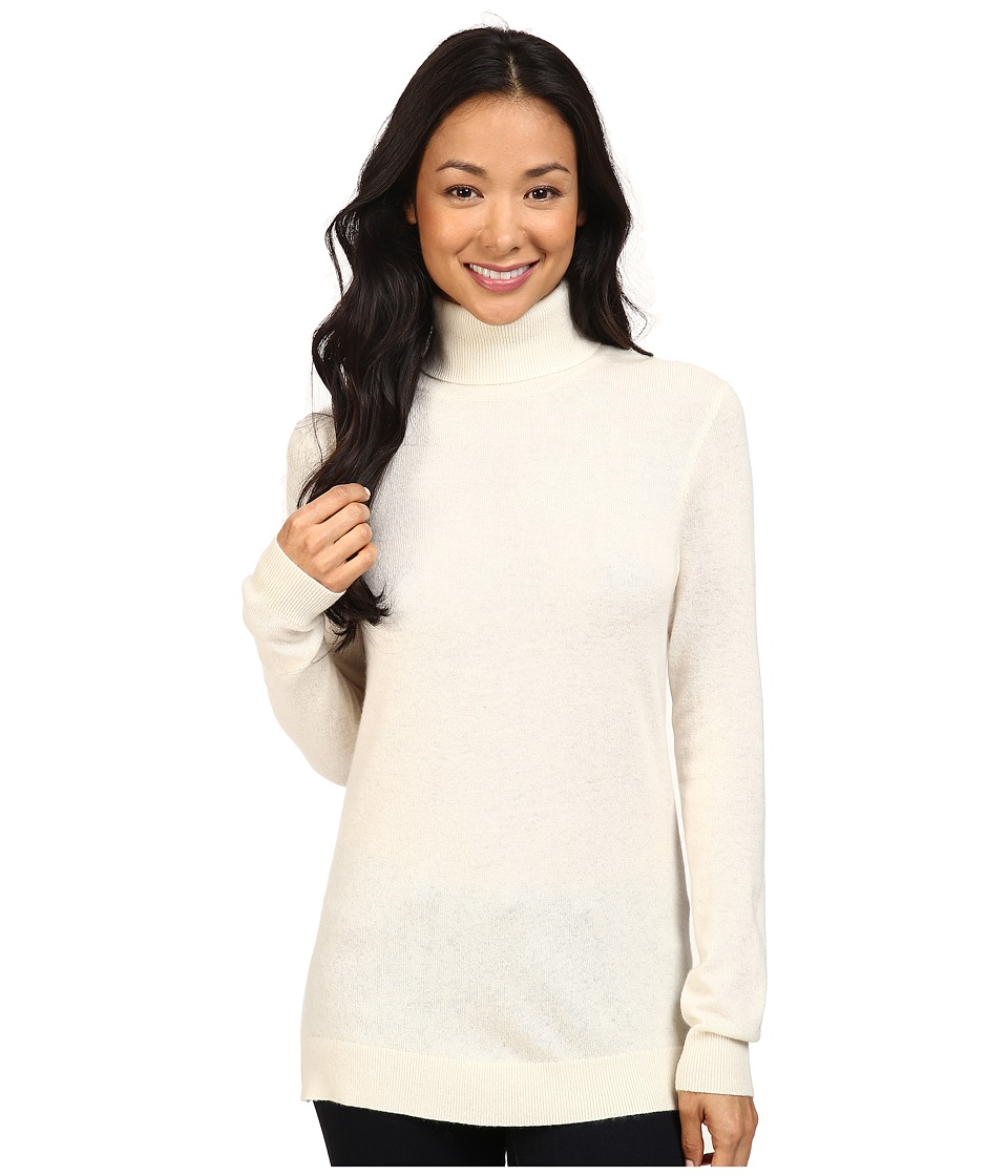 Pendleton - Turtleneck (Ivory) Women's Long Sleeve Pullover