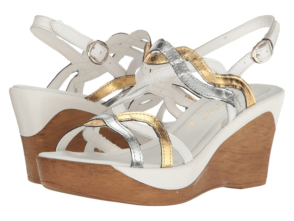 David Tate - Alto (White Multi Leather) Women's Sandals