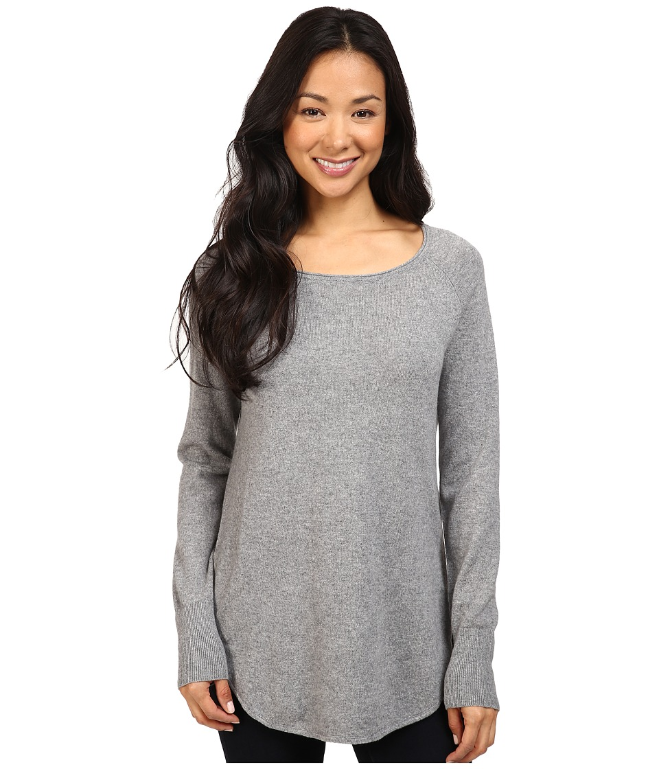 Pendleton - Cashmere Josephine Pullover (Soft Grey Heather) Women's Clothing