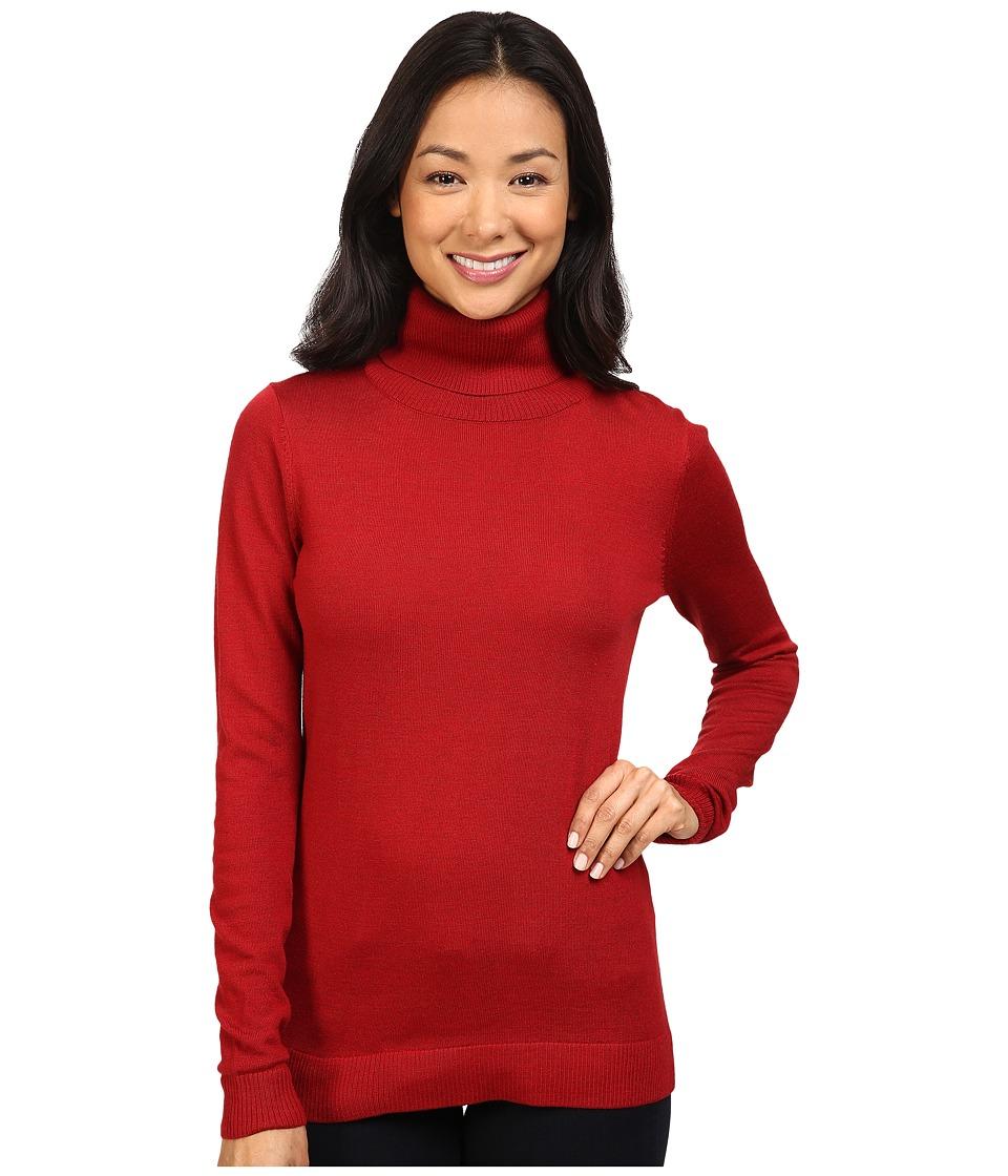 Pendleton - Timeless Turtleneck (Red Rock Heather) Women's Clothing