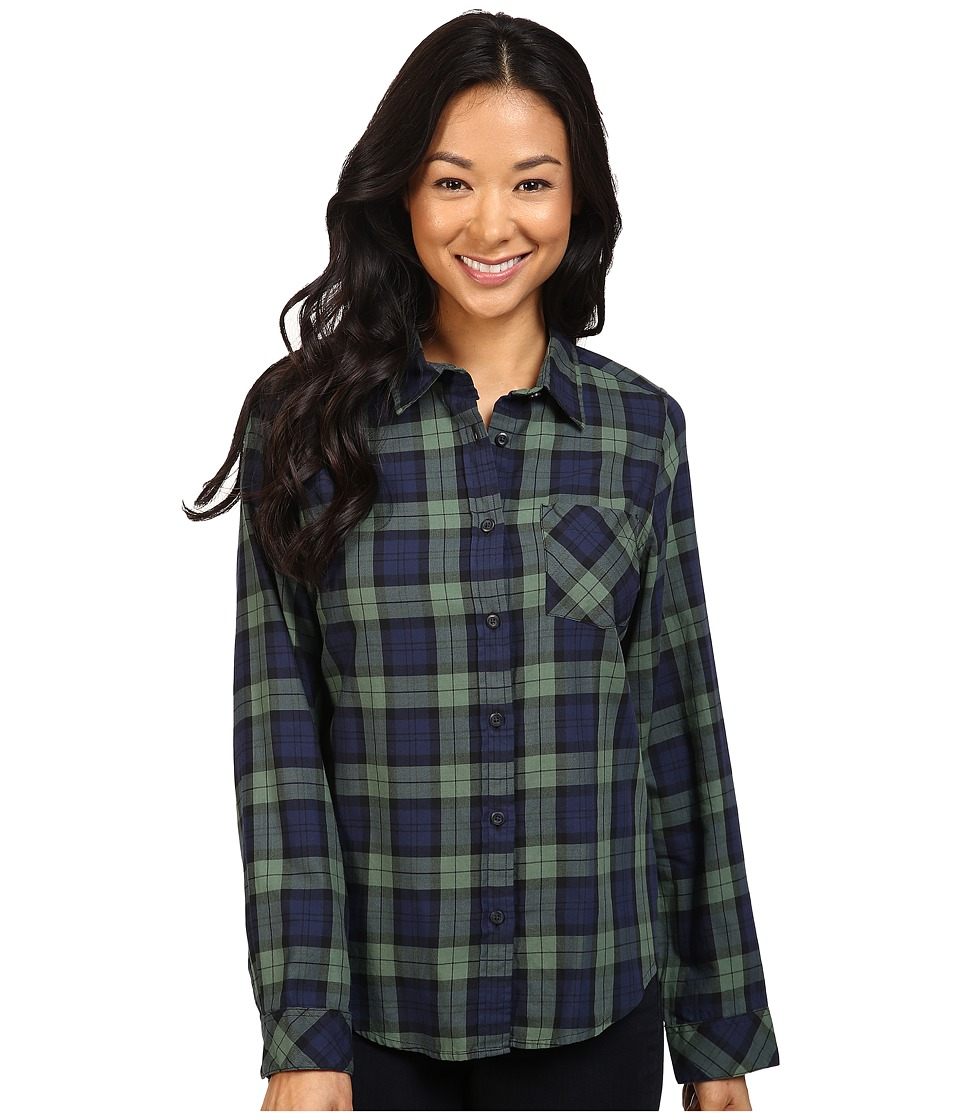 Pendleton - Frankie Plaid Shirt (Black Watch Tartan) Women's Long Sleeve Button Up