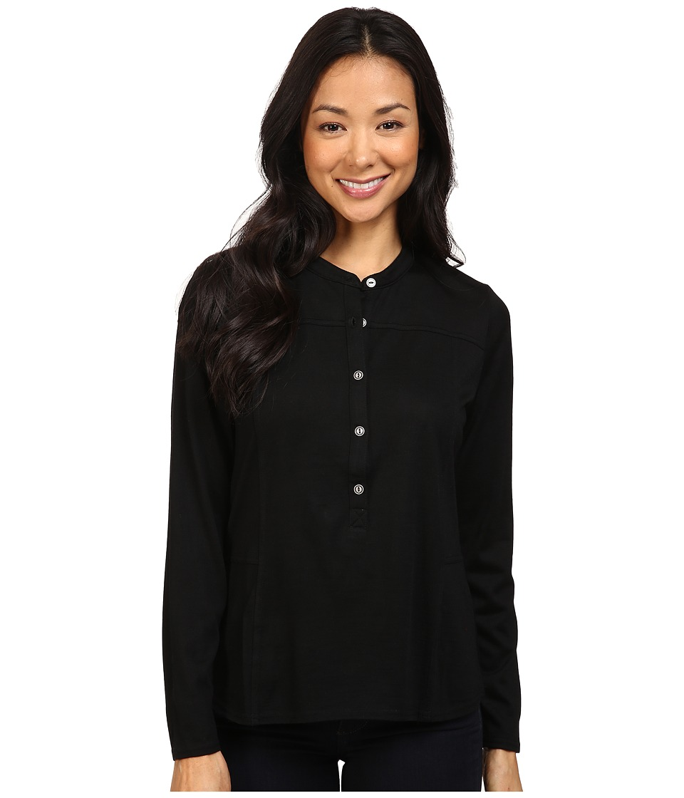 Pendleton - Ultralight Merino Henley Tee (Black) Women's T Shirt