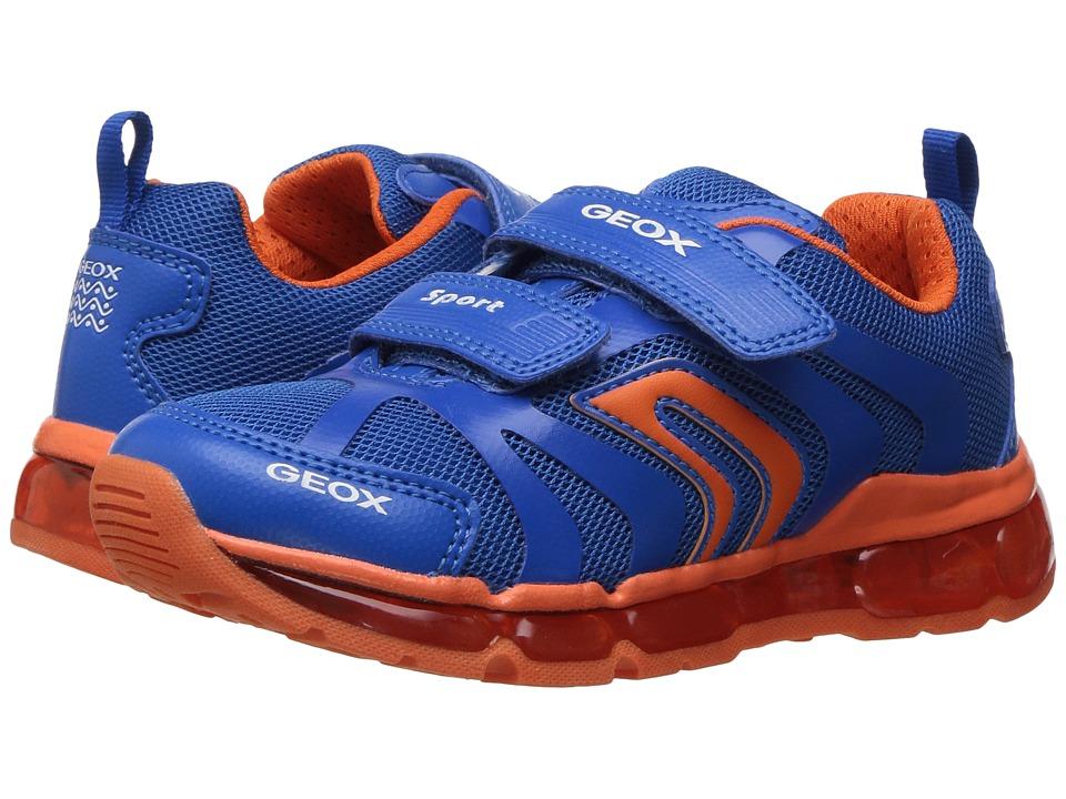 Geox Kids - Jr Android Boy 12 (Toddler/Little Kid) (Royal/Orange) Boy's Shoes