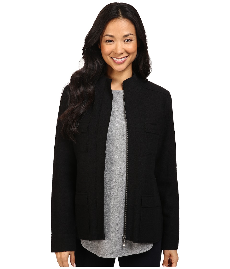 Pendleton - Lindsey Boiled Wool Jacket (Black) Women's Coat
