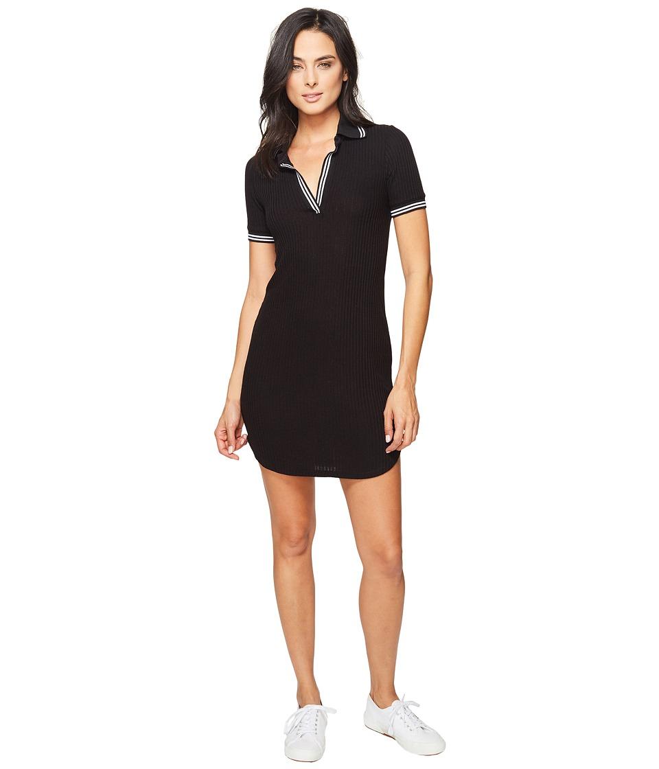 Splendid - Sylvie Rib Polo Shirtdress (Black) Women's Dress