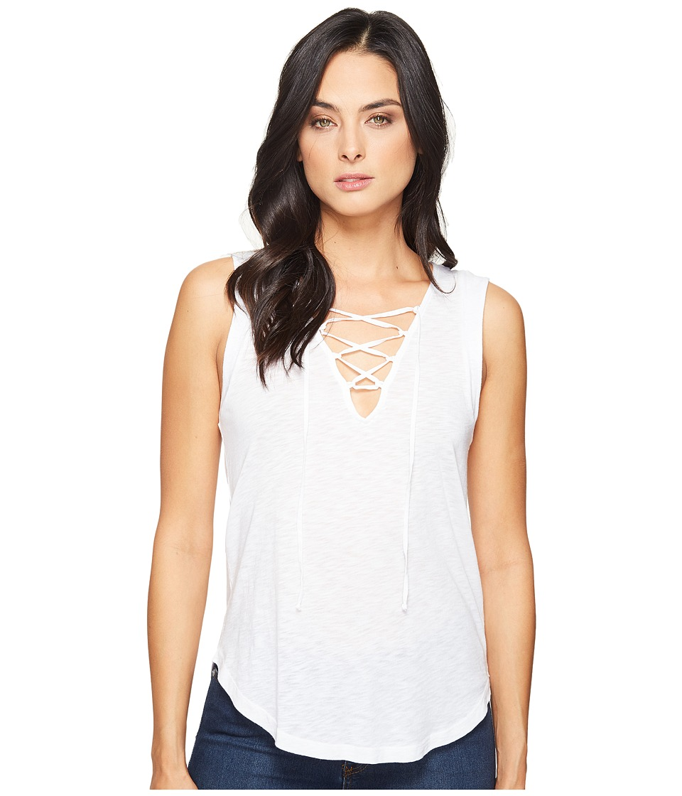 Splendid - Slub Tees Lace Up Tank (White) Women's Sleeveless