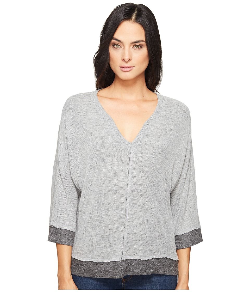 Splendid - V-Neck Dolman (Heather Grey) Women's Clothing