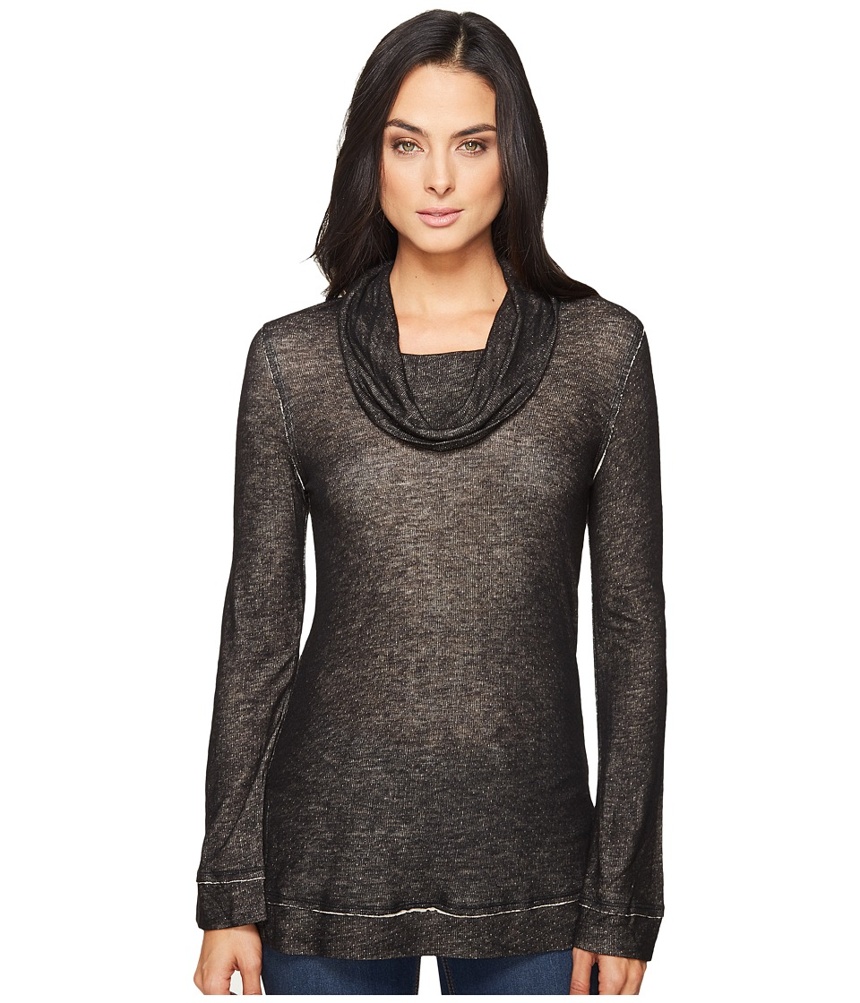 Splendid - Pacific Grove Knit Top (Black) Women's Long Sleeve Pullover
