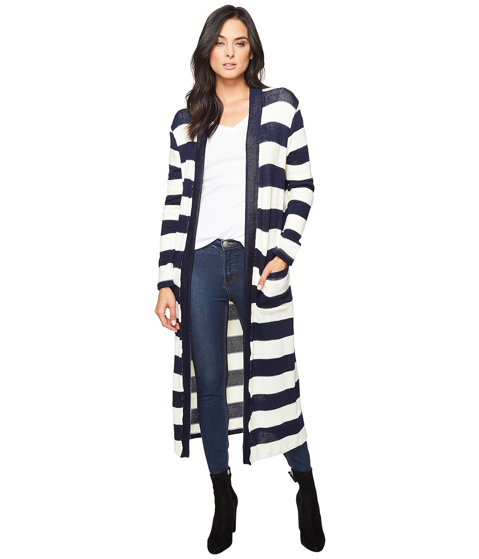 Splendid - Cliffside Rugby Stripe Duster (Navy/Natural) Women's Sweater