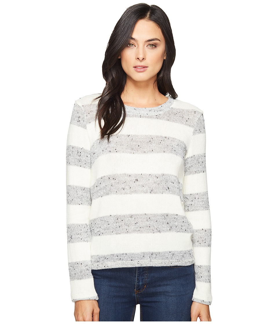 Splendid - Rugby Top (Heather Grey/Natural) Women's Sweater