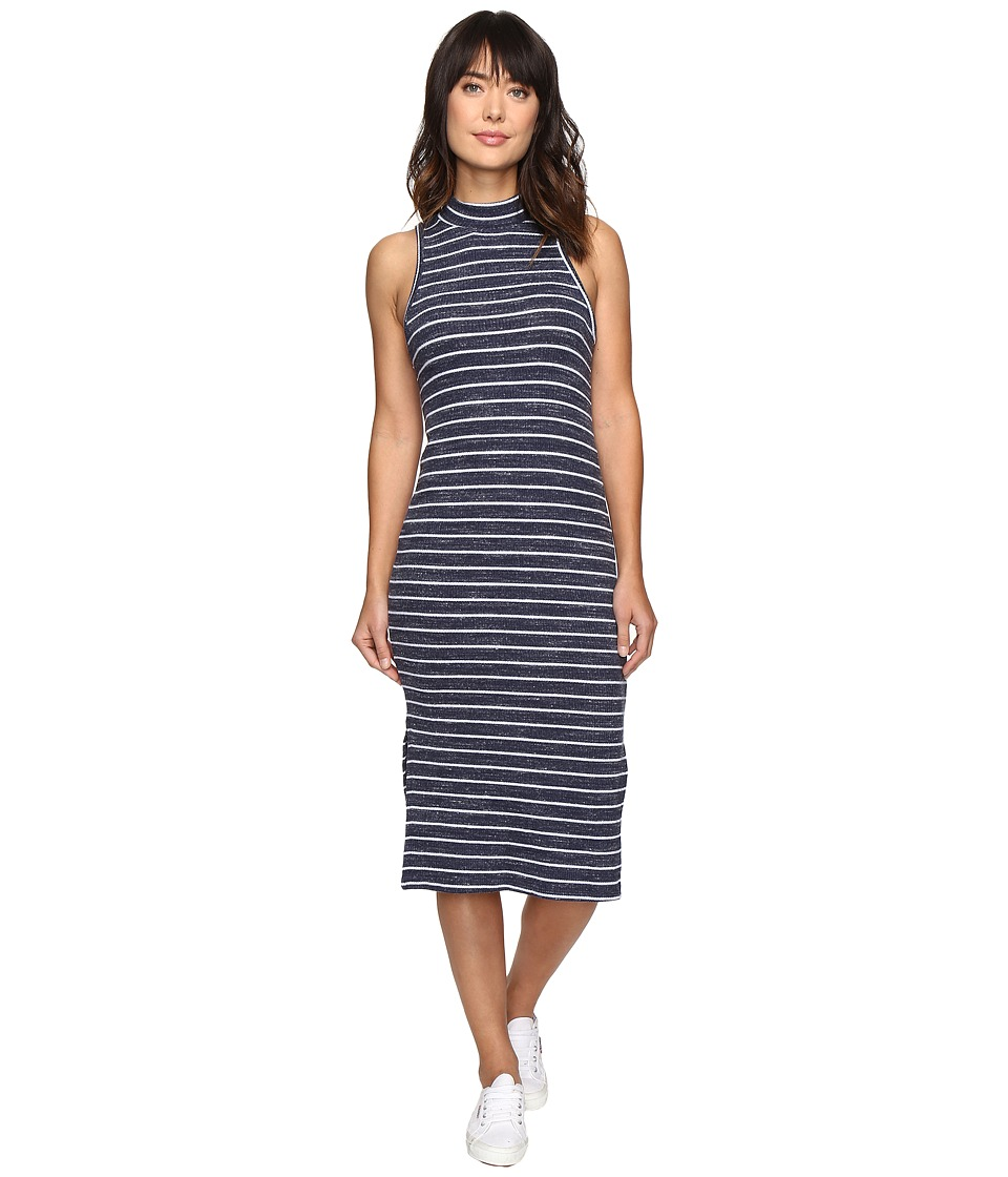 Splendid - Striped Rib Dress (Navy) Women's Dress