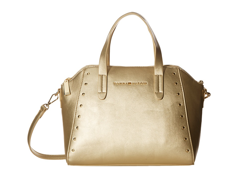 Tommy Hilfiger - Betty Dome Convertible Satchel (Gold) Satchel Handbags