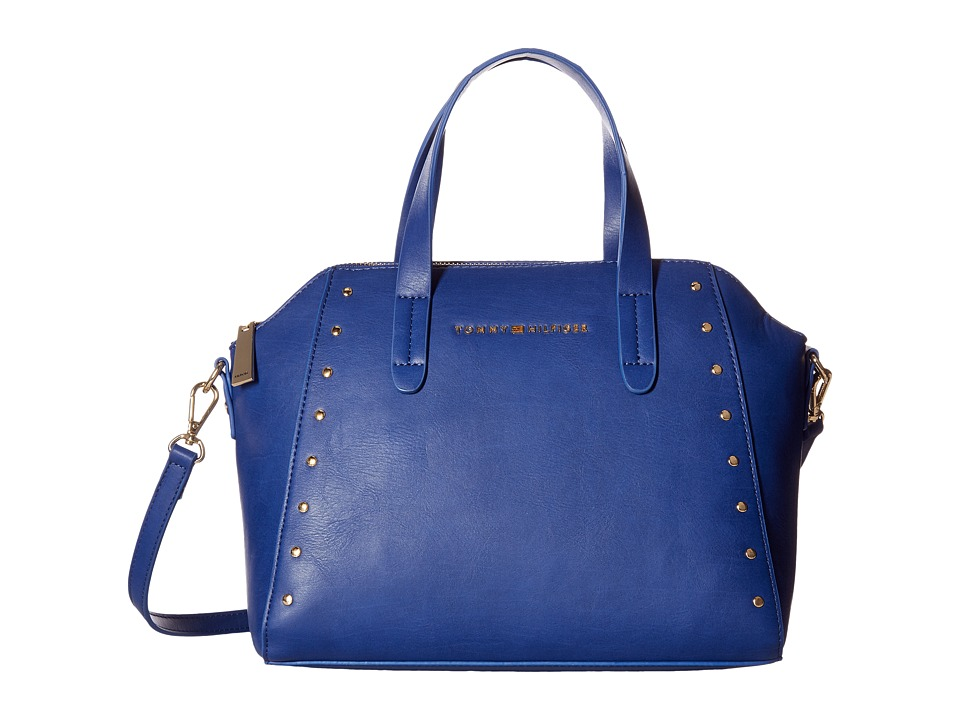 Tommy Hilfiger - Betty Dome Convertible Satchel (Cobalt) Satchel Handbags