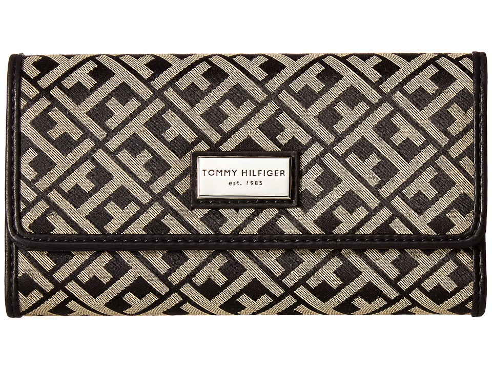 Tommy Hilfiger - Core Wallets Continental Wallet TH 88 (Black/Cream) Wallet Handbags