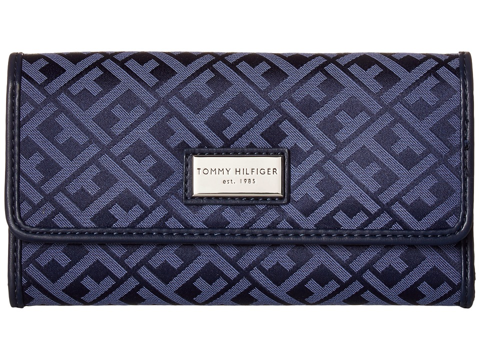 Tommy Hilfiger - Core Wallets Continental Wallet TH 88 (Navy/Lapis) Wallet Handbags