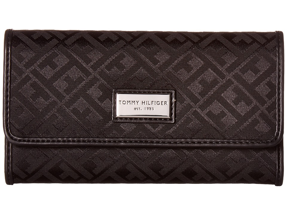 Tommy Hilfiger - Core Wallets Continental Wallet TH 88 (Black Tonal) Wallet Handbags