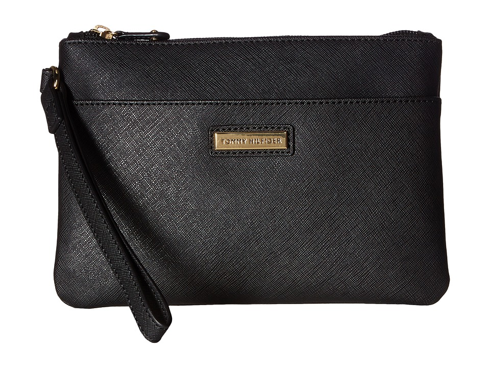 Tommy Hilfiger - Wristlets Wristlet w/ ID (Black) Wristlet Handbags