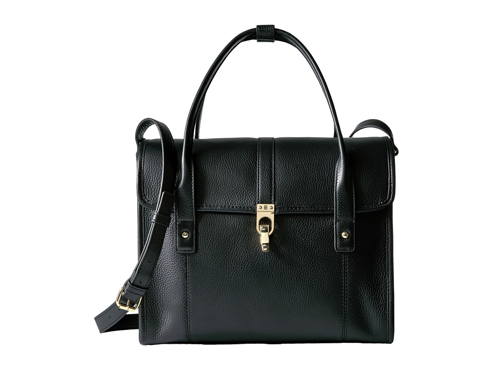 Tommy Hilfiger - Kira Convertible Satchel Pebble Leather (Black) Satchel Handbags