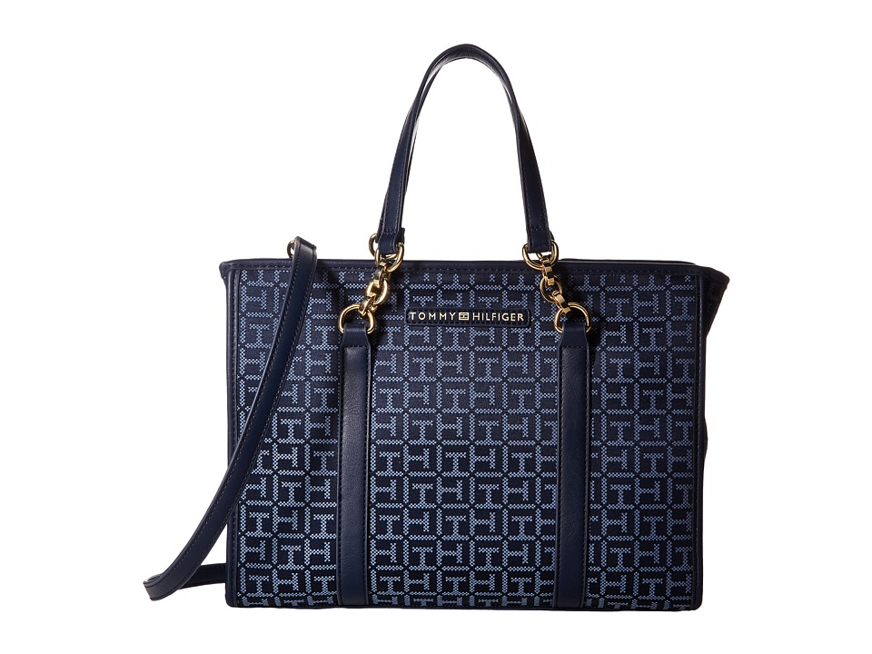 Tommy Hilfiger - Emilia Convertible Shopper (Navy/Lapis) Handbags