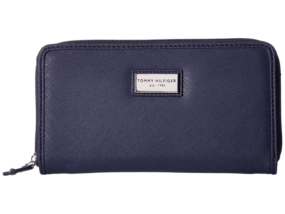 Tommy Hilfiger - Core Wallets Zip Around Wallet (Tommy Navy) Wallet Handbags