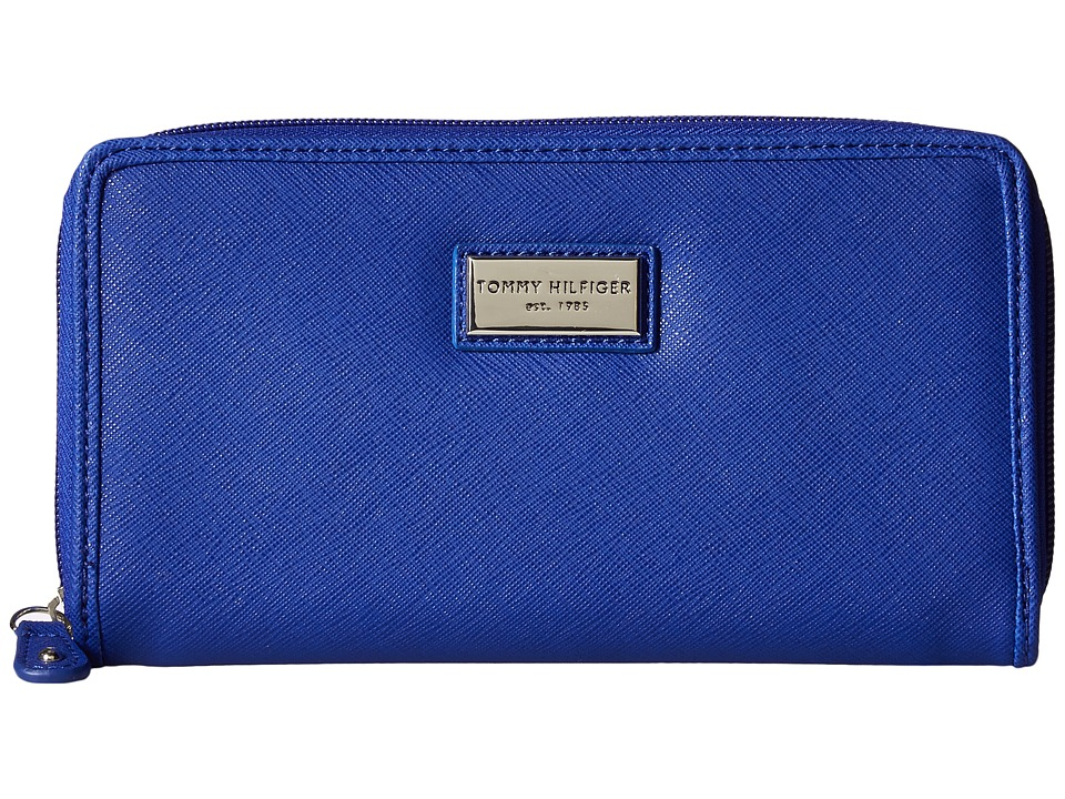 Tommy Hilfiger - Core Wallets Zip Around Wallet (Cobalt) Wallet Handbags