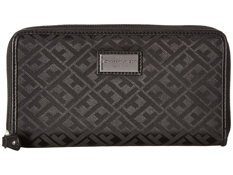 Tommy Hilfiger - Core Wallets Zip Around Wallet (Black) Wallet Handbags