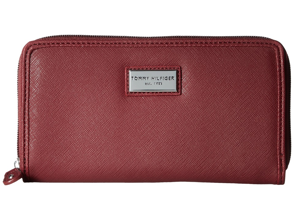Tommy Hilfiger - Core Wallets Zip Around Wallet (Cabernet) Wallet Handbags