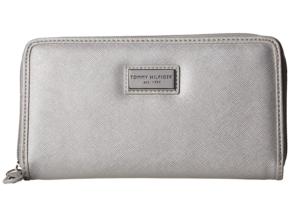 Tommy Hilfiger - Core Wallets Zip Around Wallet (Silver) Wallet Handbags