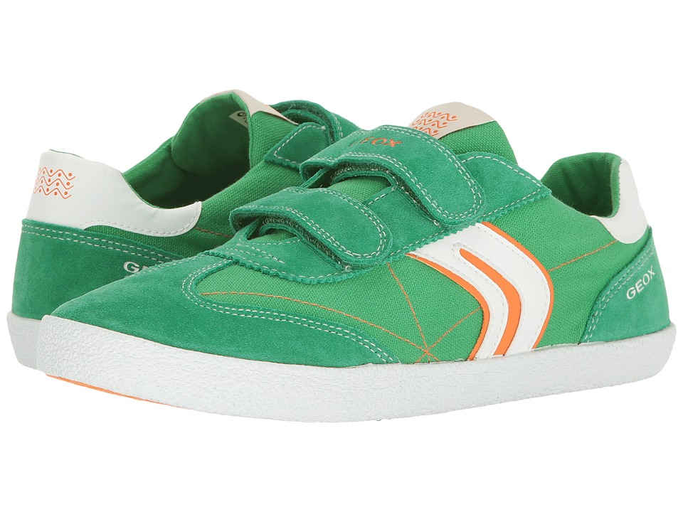 Geox Kids - Jr Kiwiboy 48 (Big Kid) (Green/Orange) Boy's Shoes