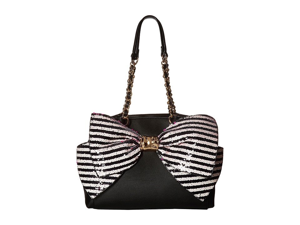 Betsey Johnson - Bow-Lesque Satchel (Black/Multi) Satchel Handbags